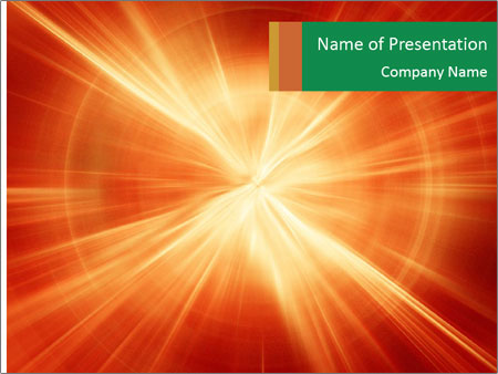 Abstract explosion PowerPoint Template