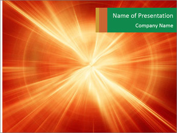 Abstract explosion PowerPoint Template - Slide 1