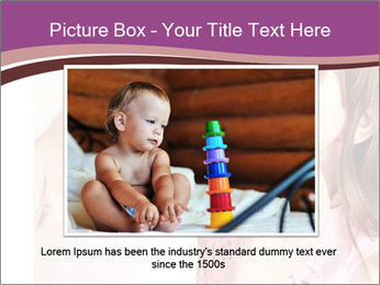 Child preschooler with face painting. PowerPoint Template - Slide 15