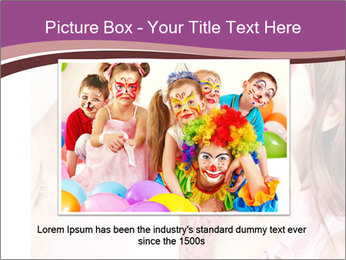 Child preschooler with face painting. PowerPoint Template - Slide 16