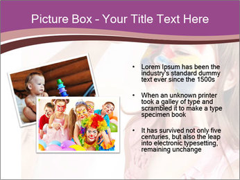 Child preschooler with face painting. PowerPoint Template - Slide 20