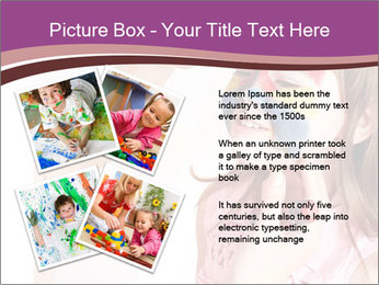 Child preschooler with face painting. PowerPoint Template - Slide 23