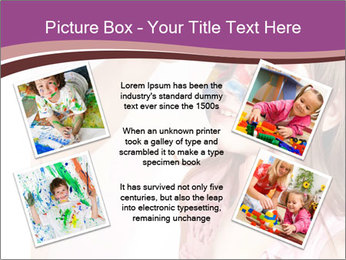 Child preschooler with face painting. PowerPoint Template - Slide 24