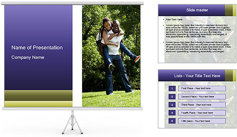 Beautiful fun happy smiling couple PowerPoint Template