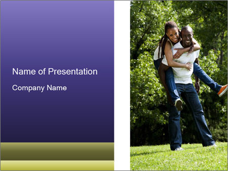 Beautiful fun happy smiling couple PowerPoint Templates