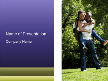 Beautiful fun happy smiling couple PowerPoint Templates - Slide 1