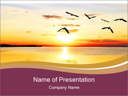 Flying towards the sun PowerPoint Template