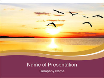 Flying towards the sun PowerPoint Template - Slide 1