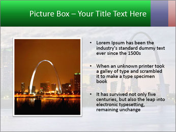 Cityscape of St. Louis Missouri at night PowerPoint Templates - Slide 13