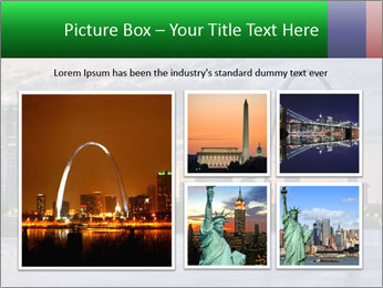 Cityscape of St. Louis Missouri at night PowerPoint Templates - Slide 19