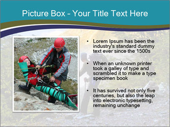 A hiker pauses for a rest at a clearing while PowerPoint Templates - Slide 13
