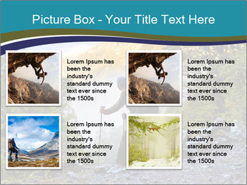 A hiker pauses for a rest at a clearing while PowerPoint Templates - Slide 14