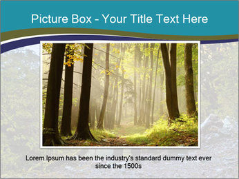 A hiker pauses for a rest at a clearing while PowerPoint Templates - Slide 15