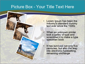 A hiker pauses for a rest at a clearing while PowerPoint Templates - Slide 17