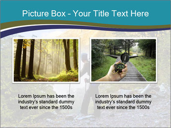 A hiker pauses for a rest at a clearing while PowerPoint Templates - Slide 18