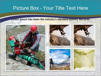 A hiker pauses for a rest at a clearing while PowerPoint Templates - Slide 19
