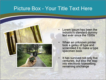A hiker pauses for a rest at a clearing while PowerPoint Templates - Slide 20