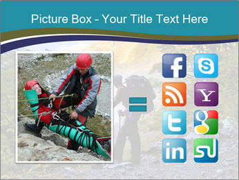 A hiker pauses for a rest at a clearing while PowerPoint Templates - Slide 21