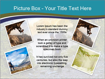 A hiker pauses for a rest at a clearing while PowerPoint Templates - Slide 24