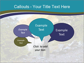 A hiker pauses for a rest at a clearing while PowerPoint Templates - Slide 73
