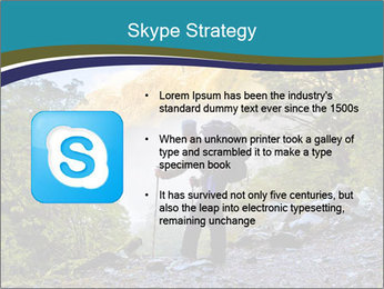 A hiker pauses for a rest at a clearing while PowerPoint Template - Slide 8