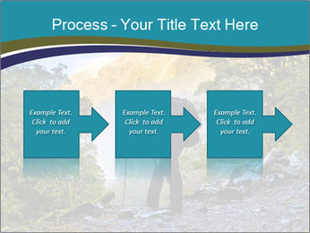 A hiker pauses for a rest at a clearing while PowerPoint Template - Slide 88