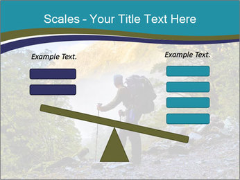 A hiker pauses for a rest at a clearing while PowerPoint Template - Slide 89