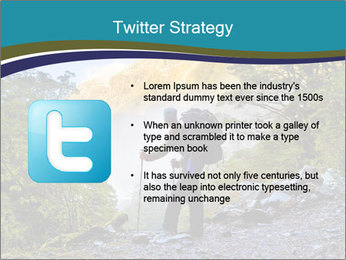 A hiker pauses for a rest at a clearing while PowerPoint Template - Slide 9