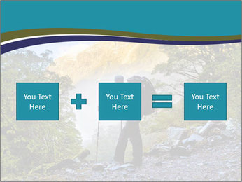 A hiker pauses for a rest at a clearing while PowerPoint Templates - Slide 95