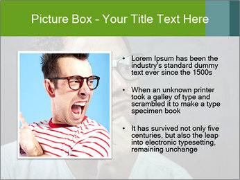 Young guy wearing white t-shirt PowerPoint Template - Slide 13