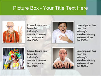 Young guy wearing white t-shirt PowerPoint Template - Slide 14