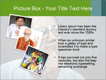 Young guy wearing white t-shirt PowerPoint Template - Slide 17