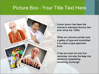 Young guy wearing white t-shirt PowerPoint Template - Slide 23