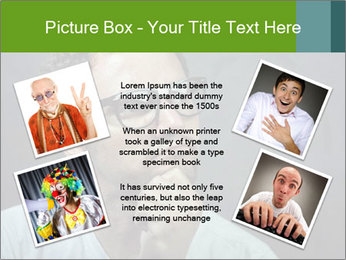 Young guy wearing white t-shirt PowerPoint Template - Slide 24