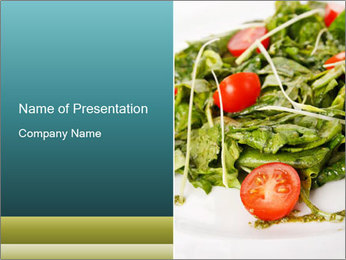 Summer salad PowerPoint Template