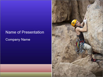 Rock climber PowerPoint Template - Slide 1