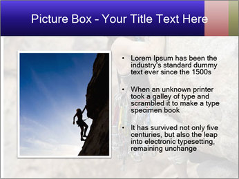 Rock climber PowerPoint Template - Slide 13