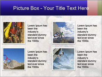 Rock climber PowerPoint Template - Slide 14