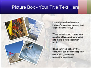 Rock climber PowerPoint Template - Slide 23
