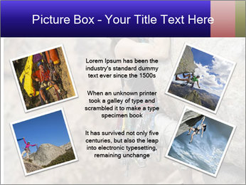 Rock climber PowerPoint Template - Slide 24