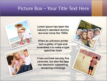 Father and his child by the sea shore, sunset PowerPoint Template - Slide 24