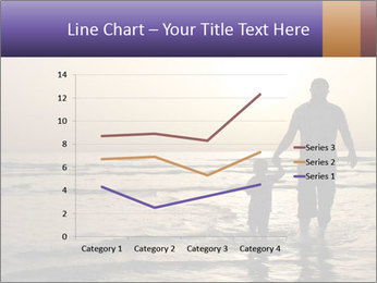 Father and his child by the sea shore, sunset PowerPoint Template - Slide 54