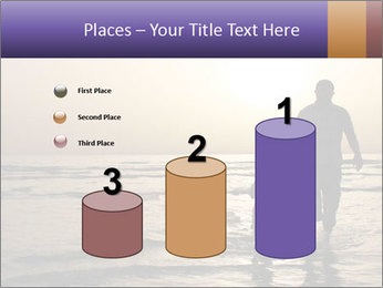 Father and his child by the sea shore, sunset PowerPoint Template - Slide 65