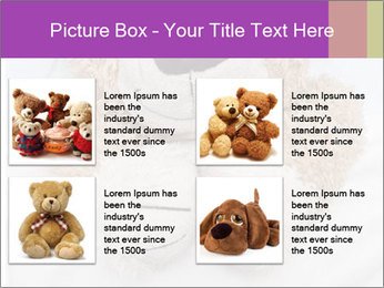 An adorable teddy bear laying in bed PowerPoint Template - Slide 14