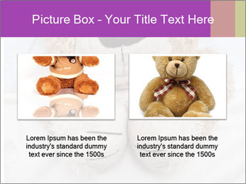 An adorable teddy bear laying in bed PowerPoint Template - Slide 18