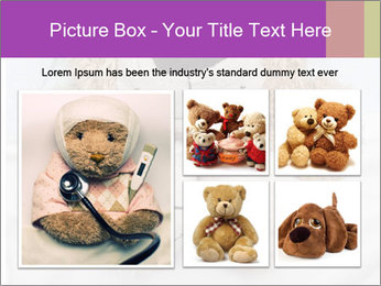 An adorable teddy bear laying in bed PowerPoint Template - Slide 19