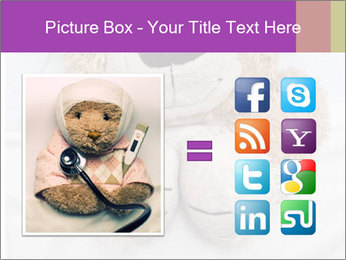 An adorable teddy bear laying in bed PowerPoint Template - Slide 21