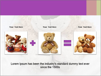 An adorable teddy bear laying in bed PowerPoint Template - Slide 22