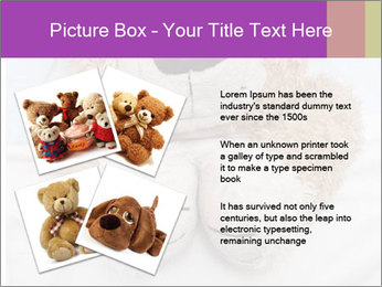 An adorable teddy bear laying in bed PowerPoint Template - Slide 23