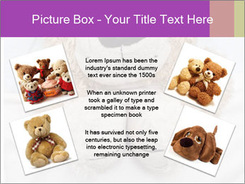 An adorable teddy bear laying in bed PowerPoint Template - Slide 24